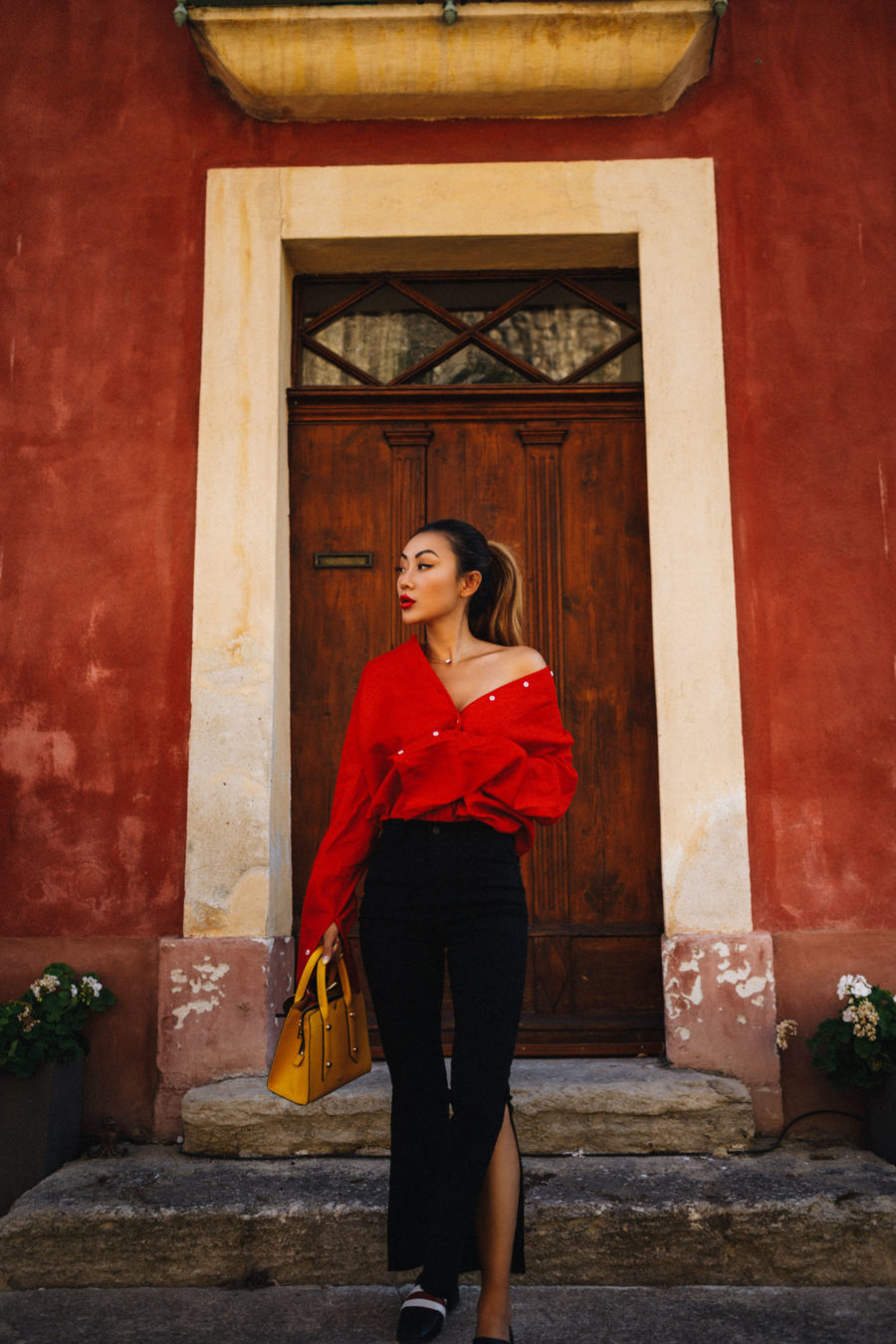 Major Fall Trends - Bold Red top // NotJessFashion.com