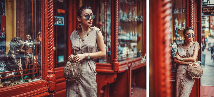 best things to do for chinese new year in nyc, chinatown nyc, Vintage-Inspired Fall Trends Plaid Dress // NotJessFashion.com