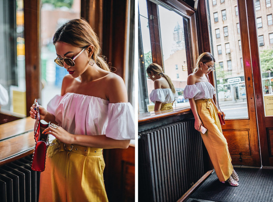 How To Style Yellow Wide-Leg Pants // NotJessFashion.com