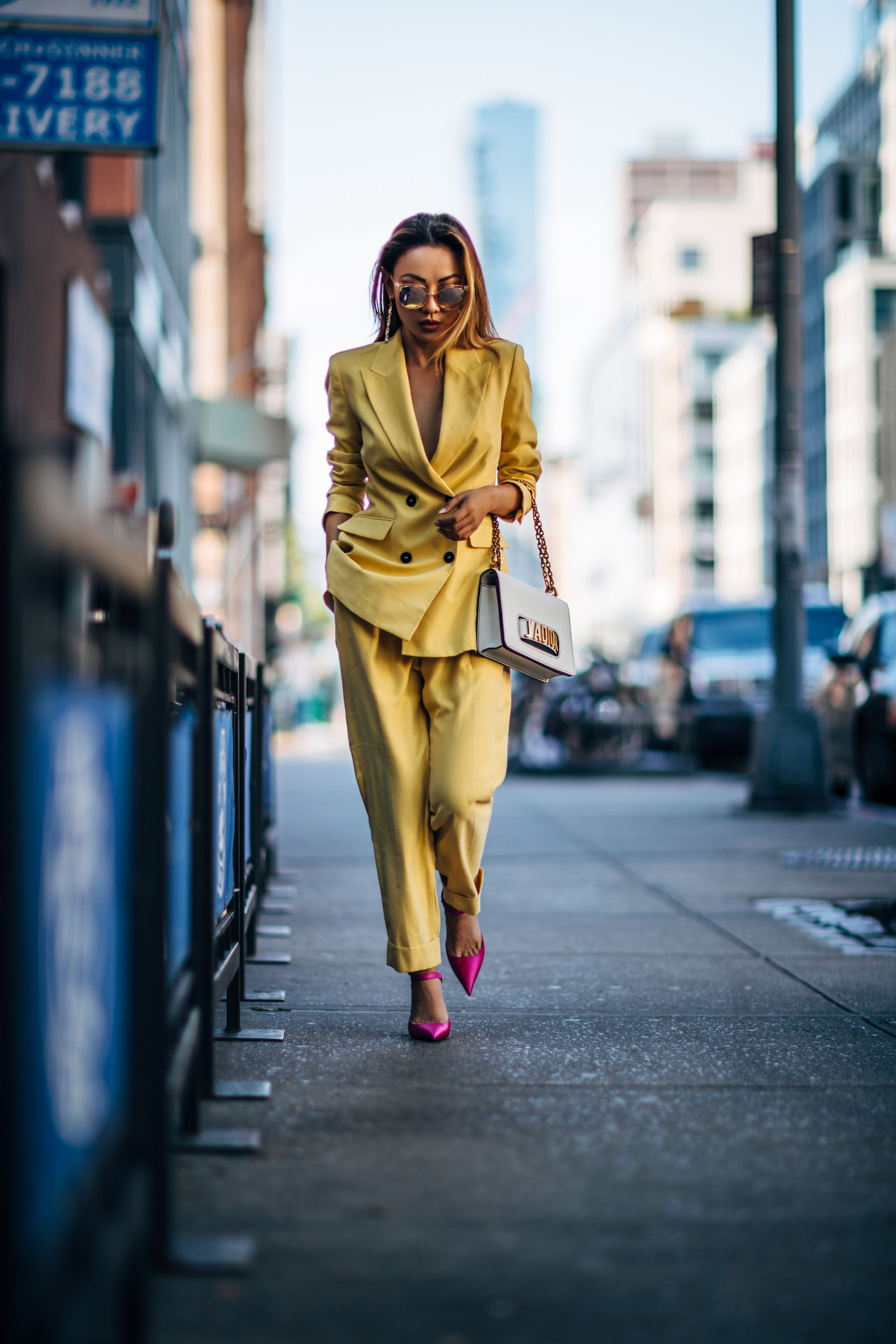 Monochromatic Trouser Suit, Suit, Zara Yellow Suit // Nojessfashion.com