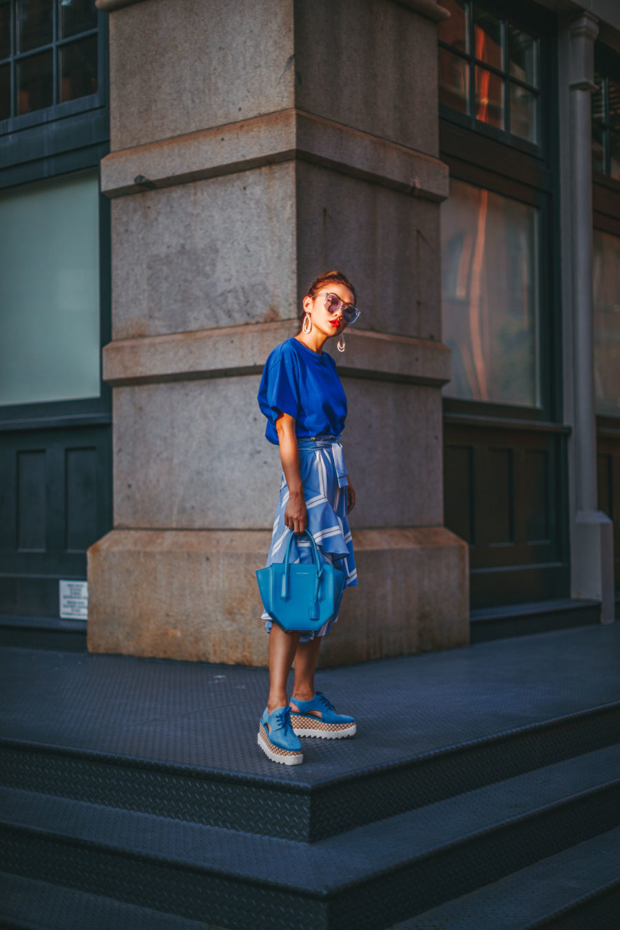 Blue monochromatic effortlessly cool look // NotJessFashion.com