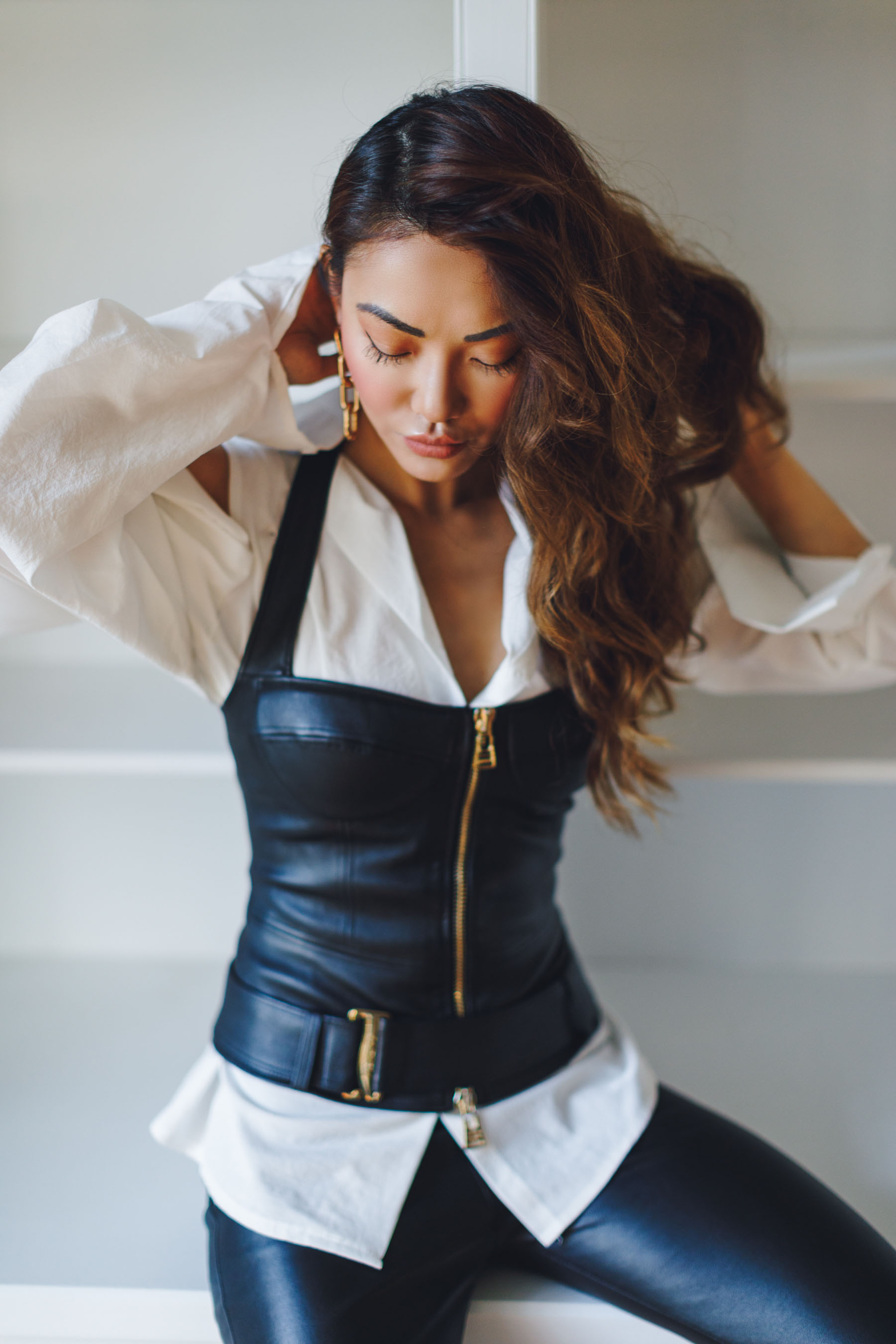 La Perla Leather Corset // Notjessfashion.com