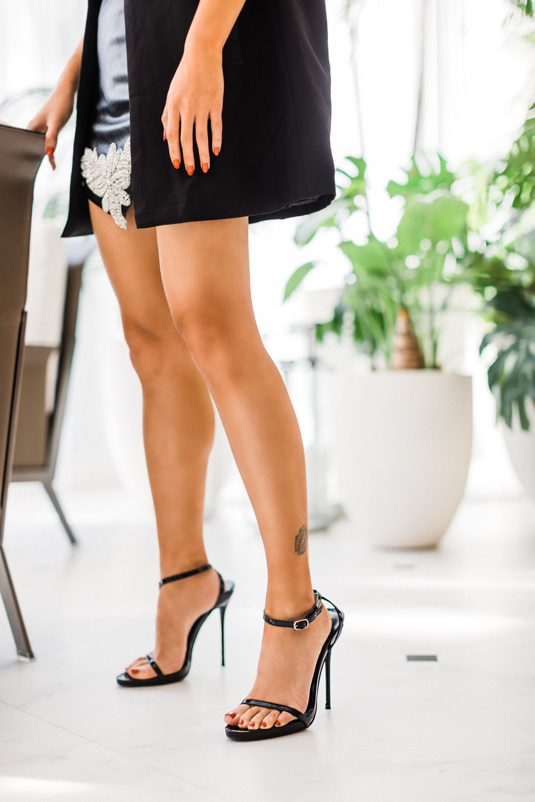 Black Simple Ankle Strap Heels // Notjessfashion.com