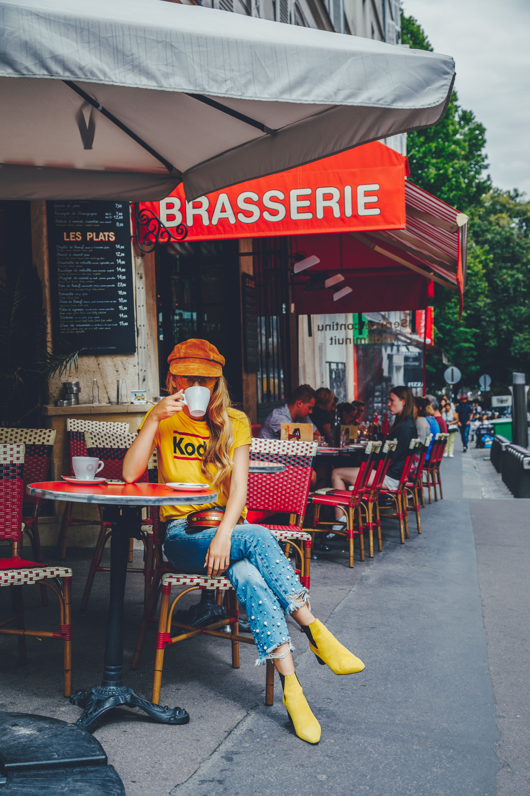 How to Start a Blog From Scratch - Jessica Wang wearing pearl jeans in Paris // Notjessfashion.com