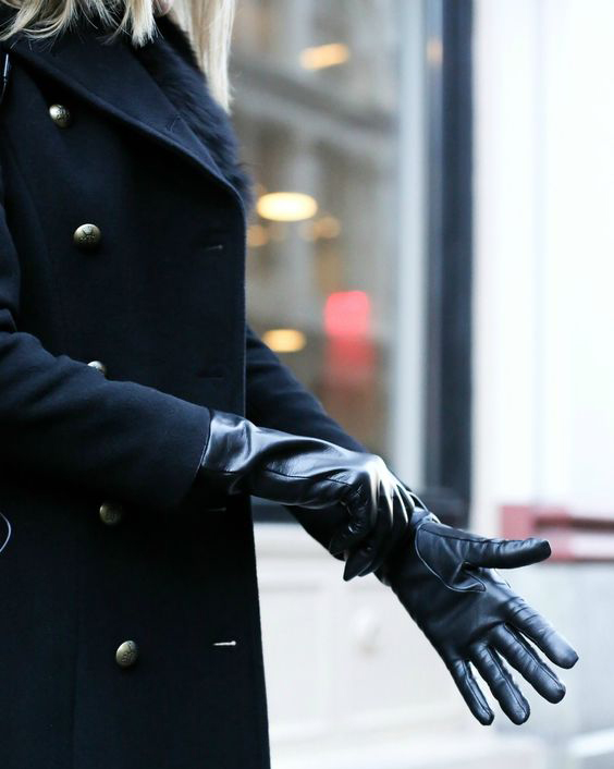Chic Cold Weather Accessories - Leather Gloves Outfit // Notjessfashion.com