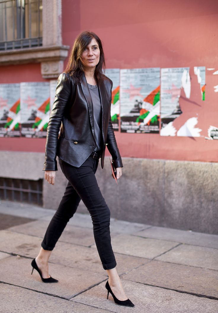 Leather Blazer with Skinny Jeans and Pumps // Notjessfashion.com