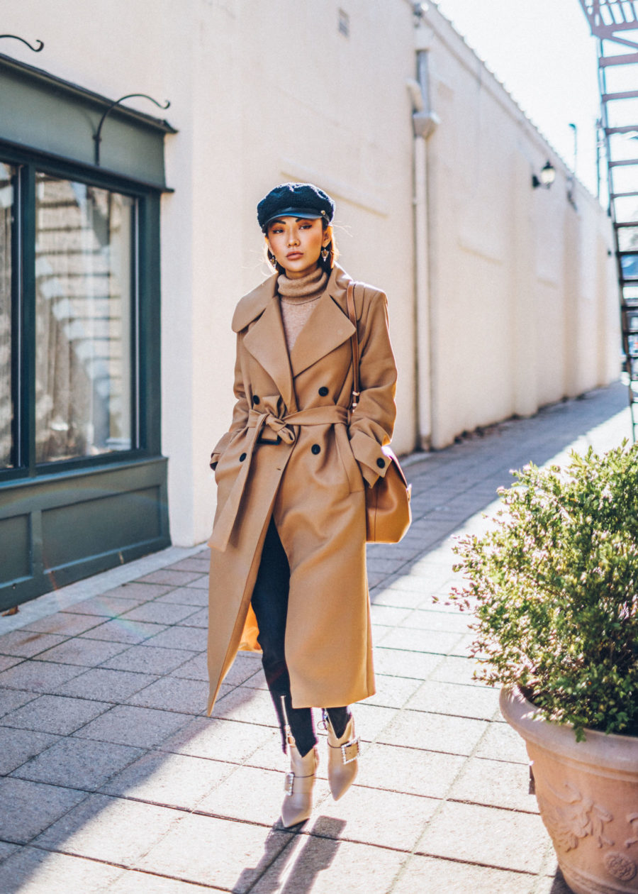 Winter Instagram Outfits - Camel Coat with Tan Turtleneck Sweater // Notjessfashion.com