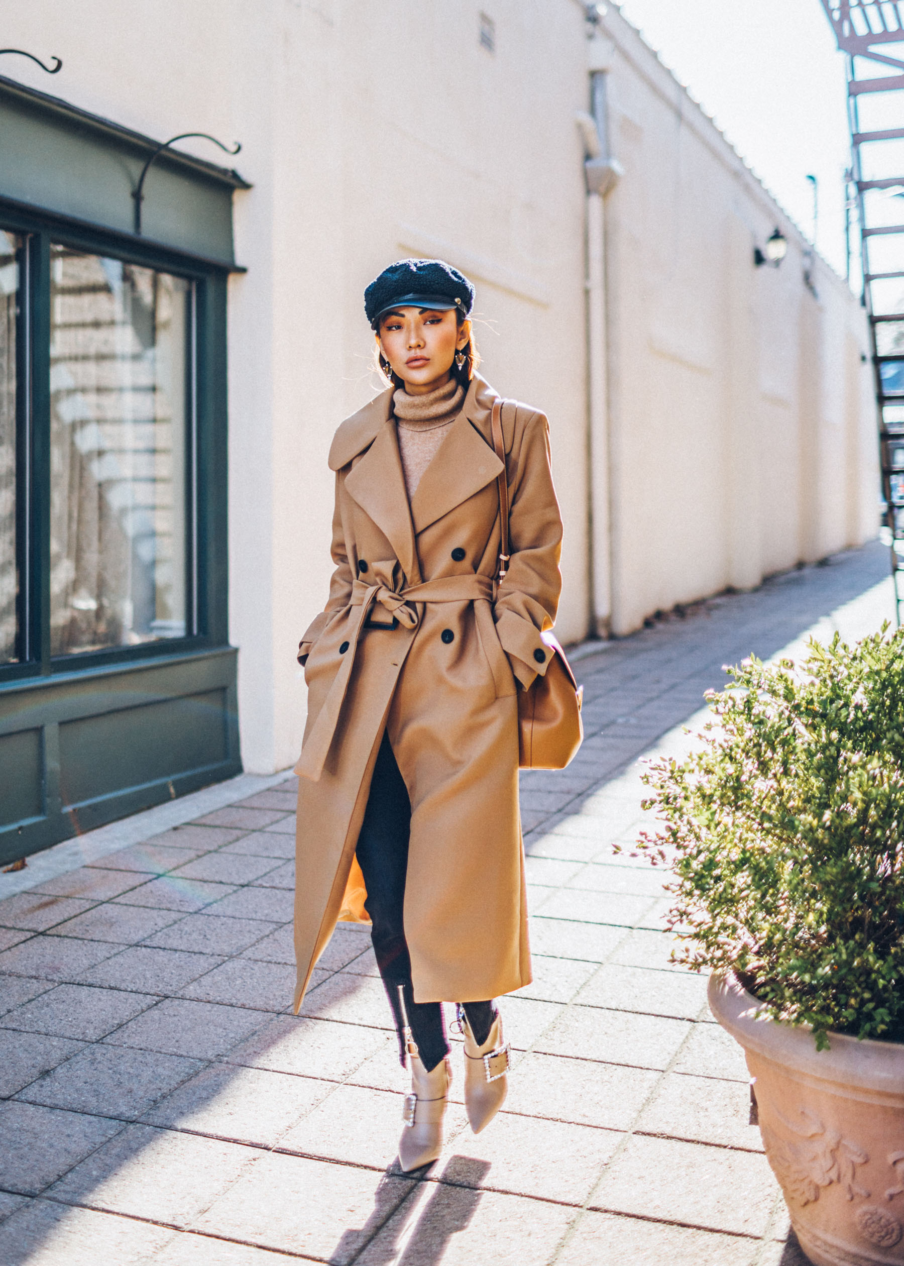 Holy Grail Coat Everyone Must Own - Camel Coat with Tan Turtleneck Sweater // Notjessfashion.com