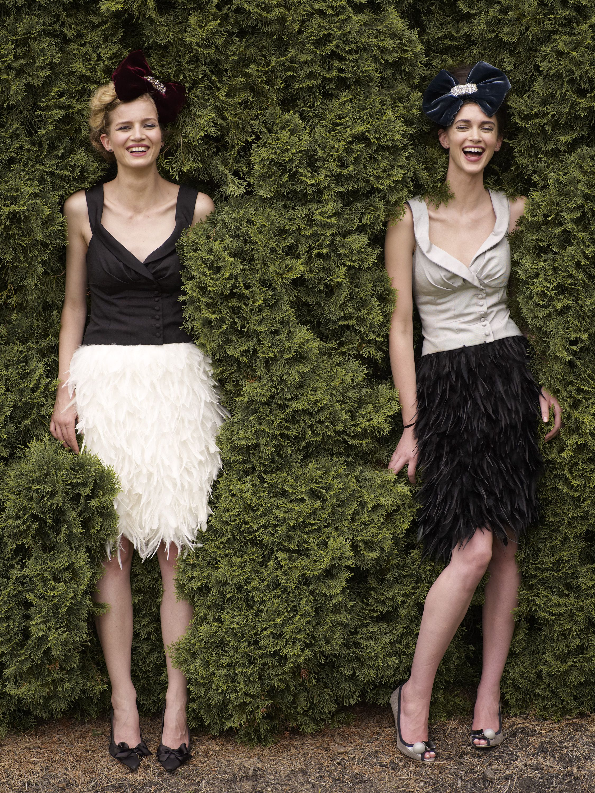 Holiday Outfit Ideas - Feather Skirt // Notjessfashion.com