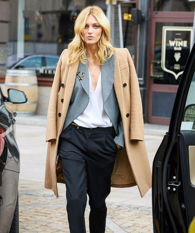 Holy Grail Coat Everyone Must Own - Camel Coat with Gray Blazer and Black Trousers // Notjessfashion.com