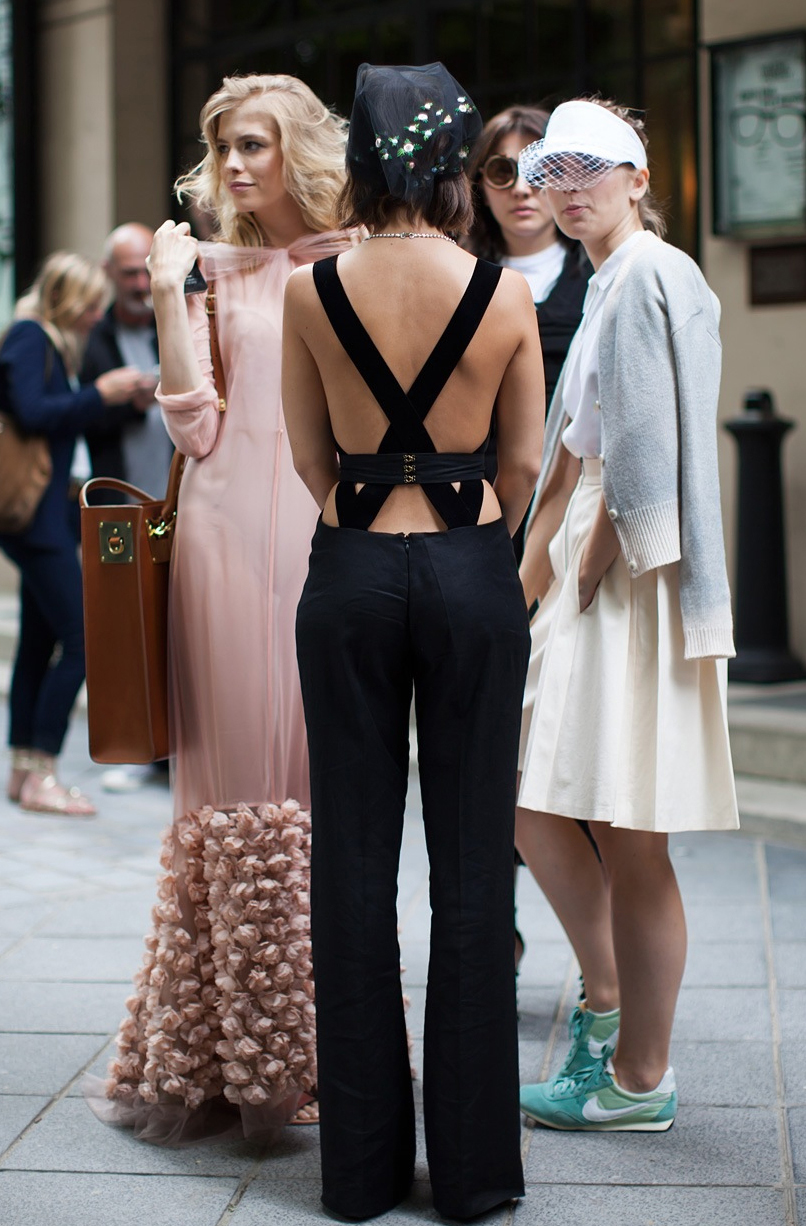 Miroslava Duma Black Jumpsuit with Statement Necklace for New Year's Eve // notjessfashion.com
