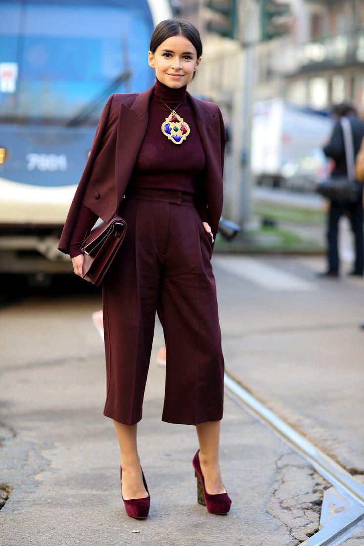 Monochromatic Winter Looks - Burgundy Monochrome Outfit // Notjessfashion