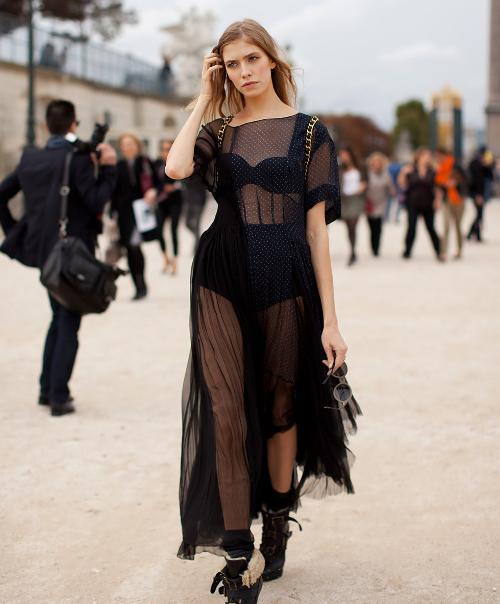 Dresses to Ring in 2018 - Black Sheer Panel Dress // notjessfashion.com