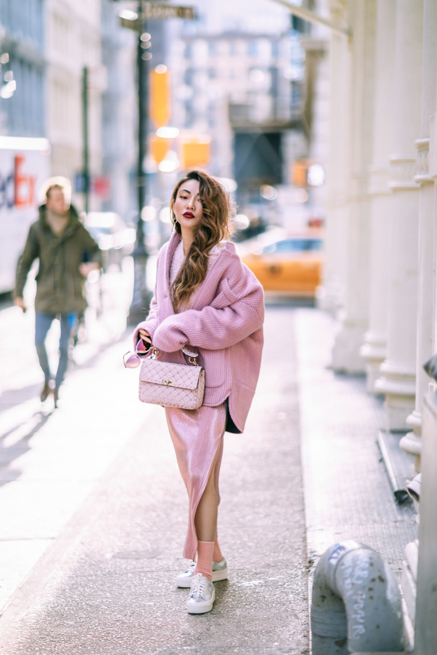 How to Wear the Corduroy Trend - Pink Monochrome Outfit // Notjessfashion.com