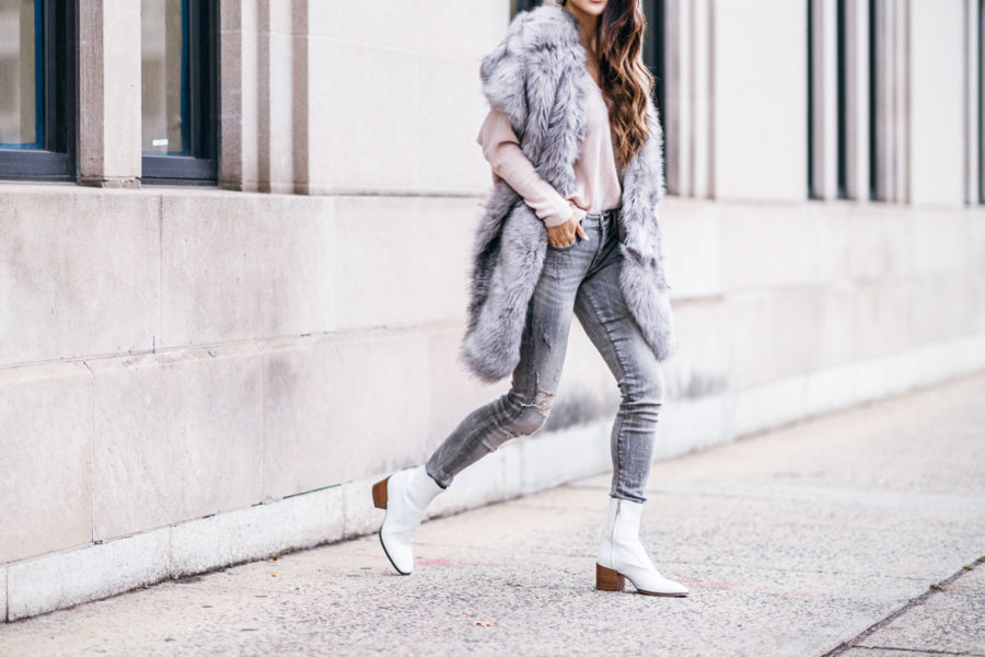 winter wardrobe essentials - white boots // NotJessFashion.com