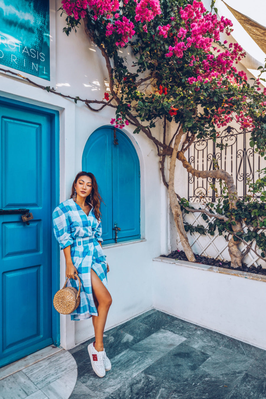 Shopbop Sale Alert - The Best Spring and Summer Items To Buy, Gingham Dresses, Travel Style, Straw Bag Outfit, Greece Style, Easy Dresses for Travel, Jessica Wang // NotJessFashion.com