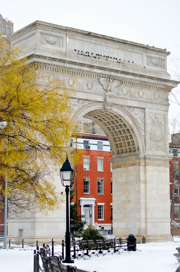 Places for Great Snow Photos - Washington Square Park in the Winter // Notjessfashion.com
