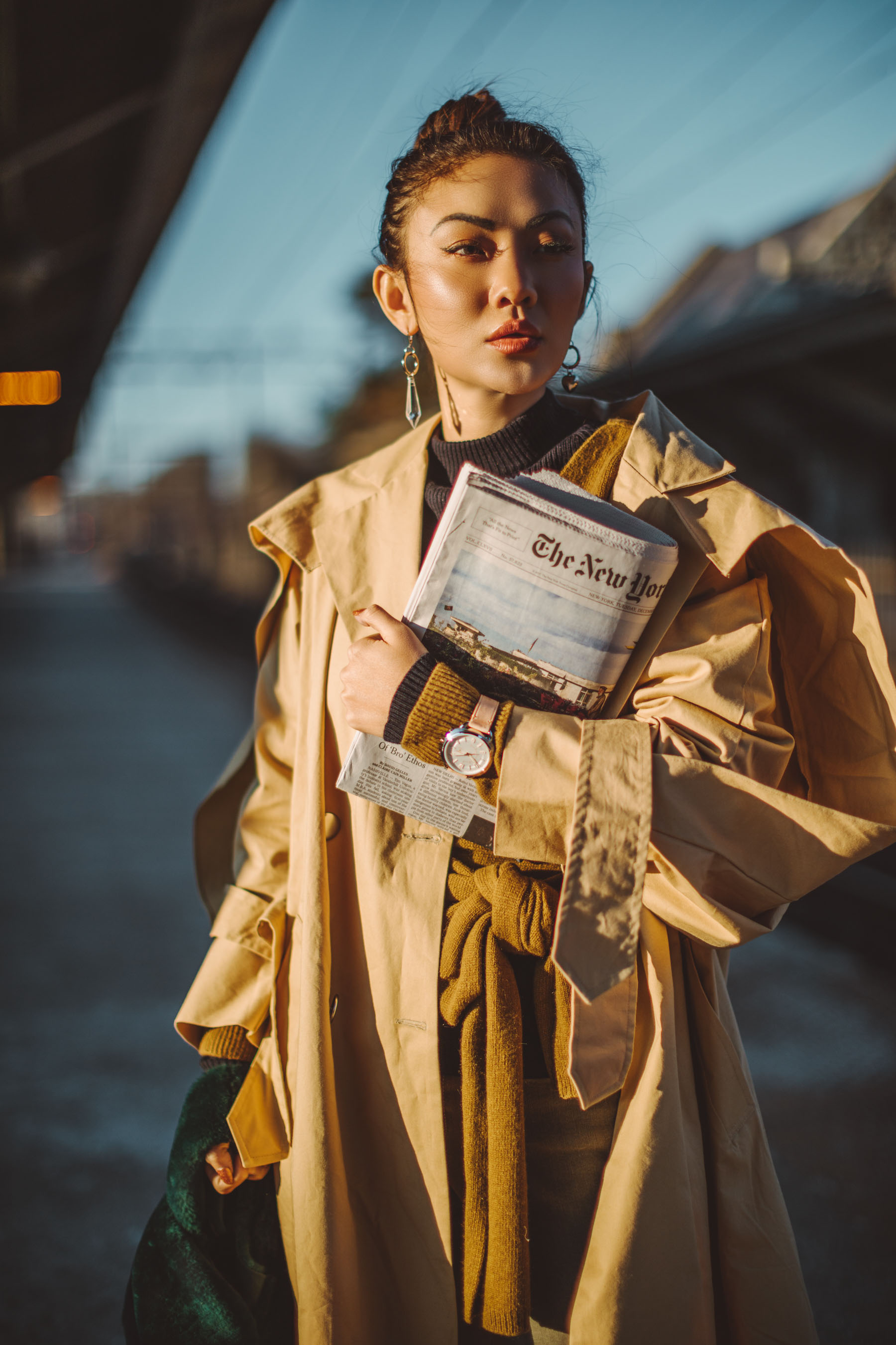 Instagram Outfits Round Up // Notjessfashion.com // Cozy Layered looks, jessica wang, fashion blogger, new york fashion blogger, street style fashion, ootd, asian blogger, oversized trench coat, leather band watch, layered style