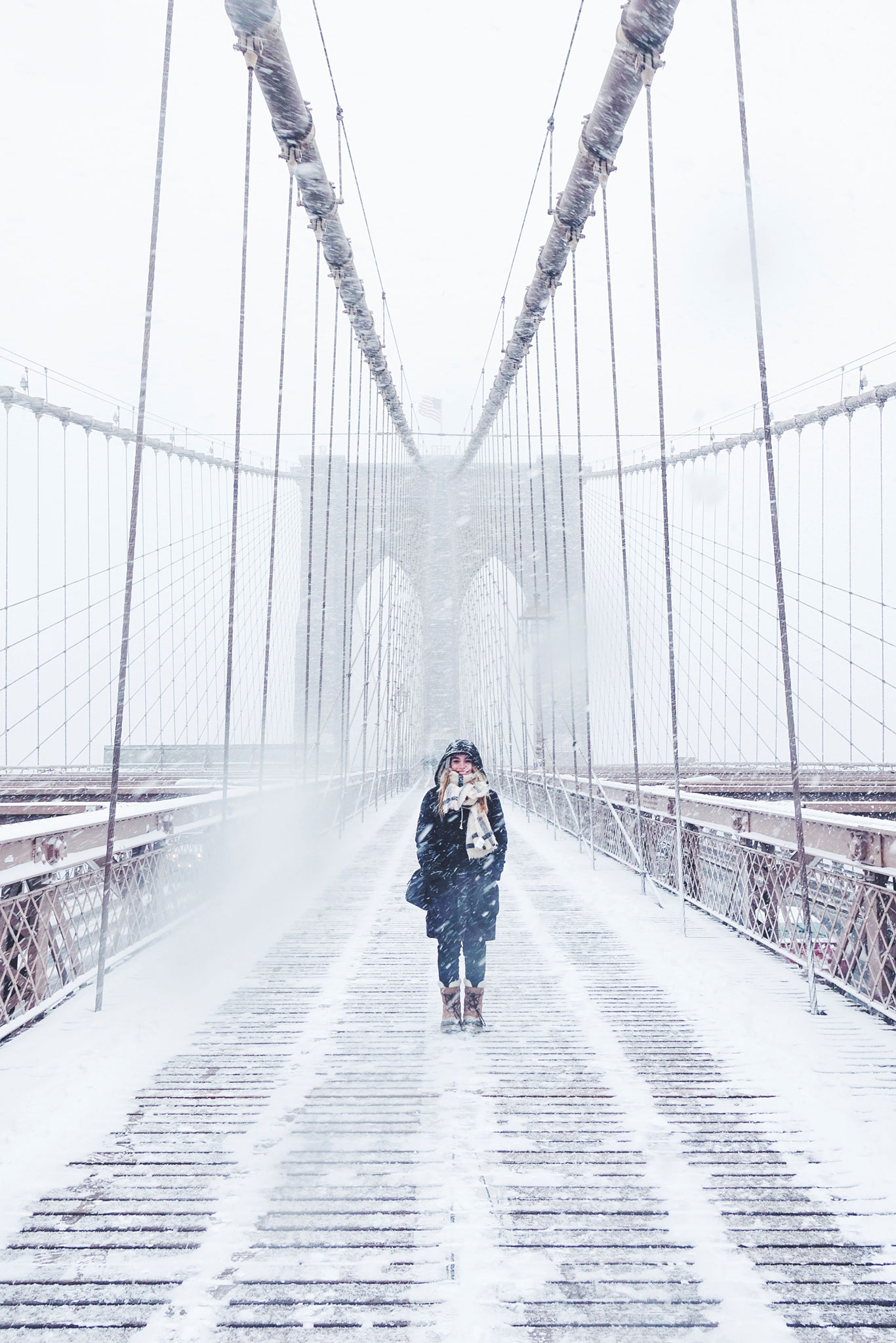 Places for Great Snow Photos - Brooklyn Bridge in the Winter // Notjessfashion.com