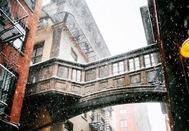 Places for Great Snow Photos - TriBeCa, Staple Street, in the Winter // Notjessfashion.com