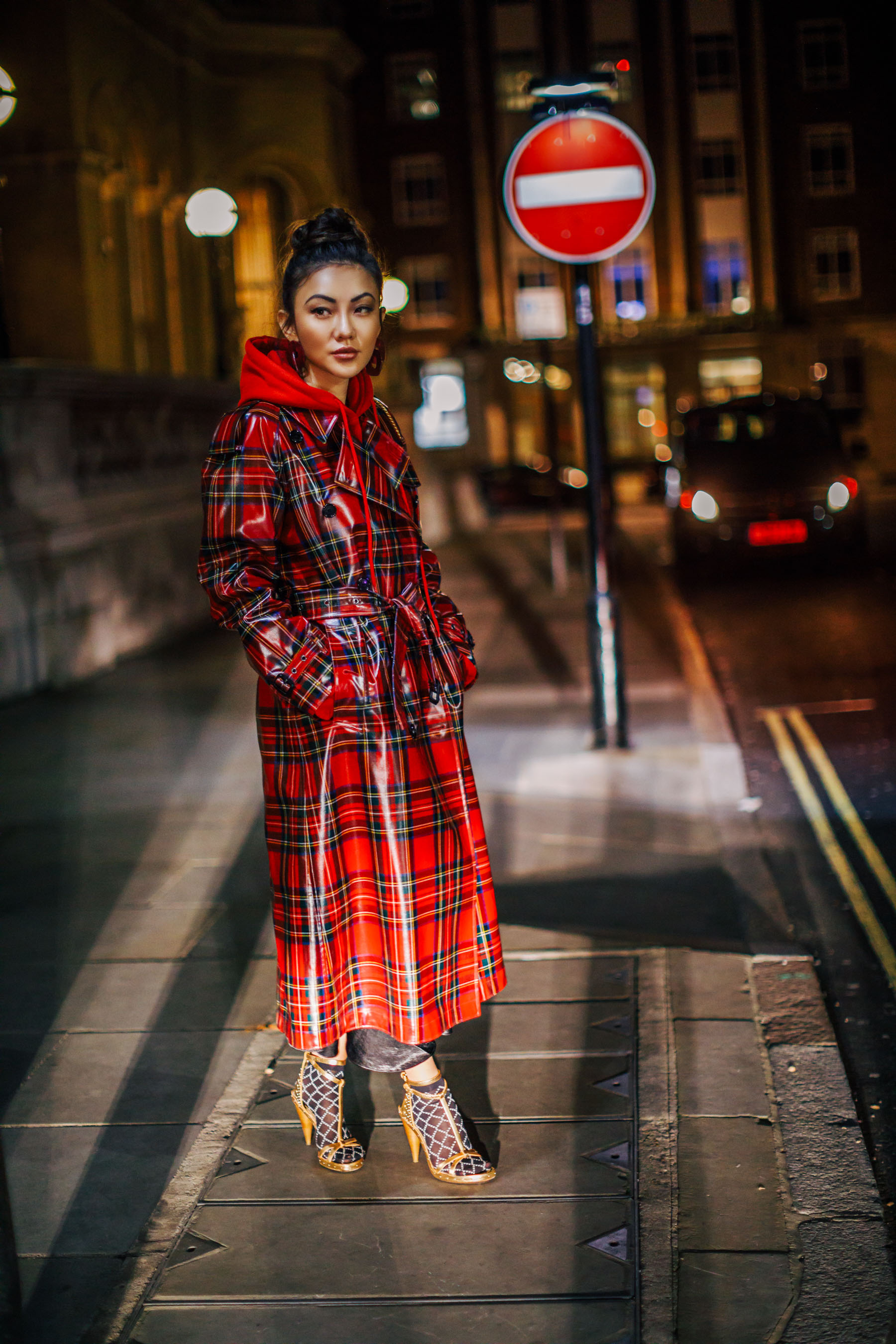 London Fashion Week Recap - burberry trench coat, socks with sandals // Notjessfashion.com