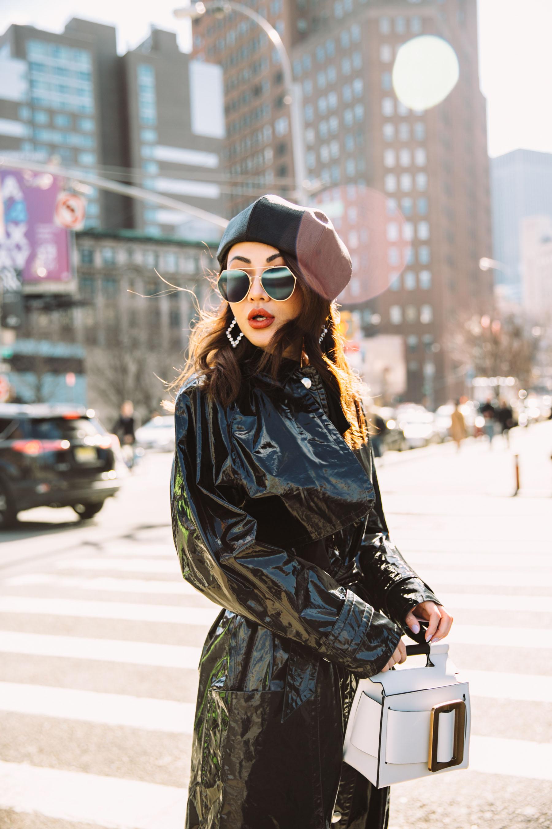 How to Wear Vinyl - Vinyl Trench Coat, NYFW Street Style // Notjessfashion.com