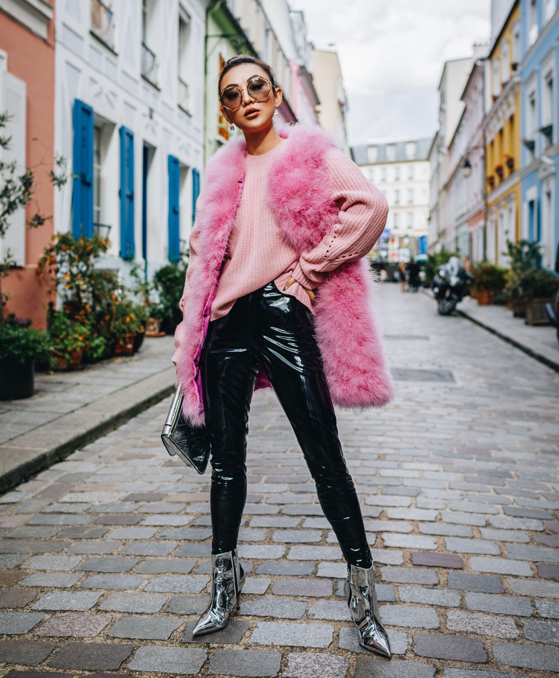 How to Wear Vinyl - Vinyl leggings, NYFW Street Style // Notjessfashion.com