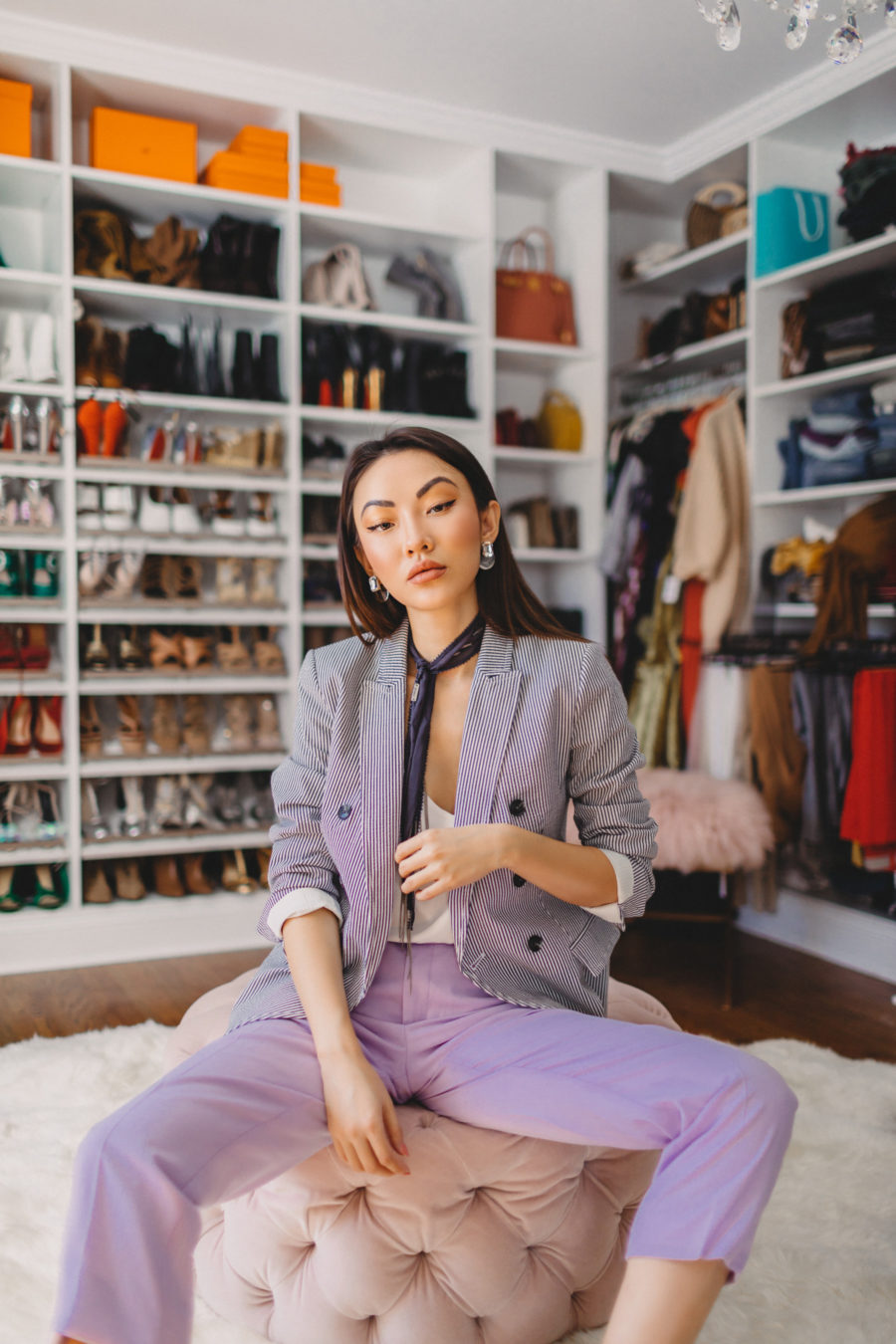 Styling Purple Pants, Spring Outfits Ideas // NotJessFashion.com