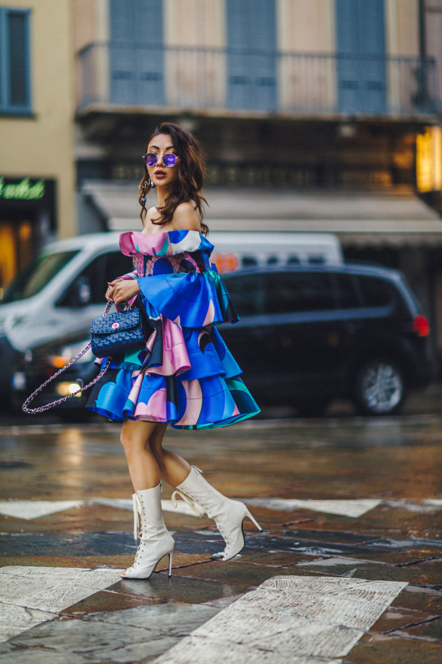 The Best Portable Cameras for Fashion & Travel Bloggers during Fashion Week - Milan Fashion Week Street Style, Emilio Pucci Dress // Notjessfashion.com
