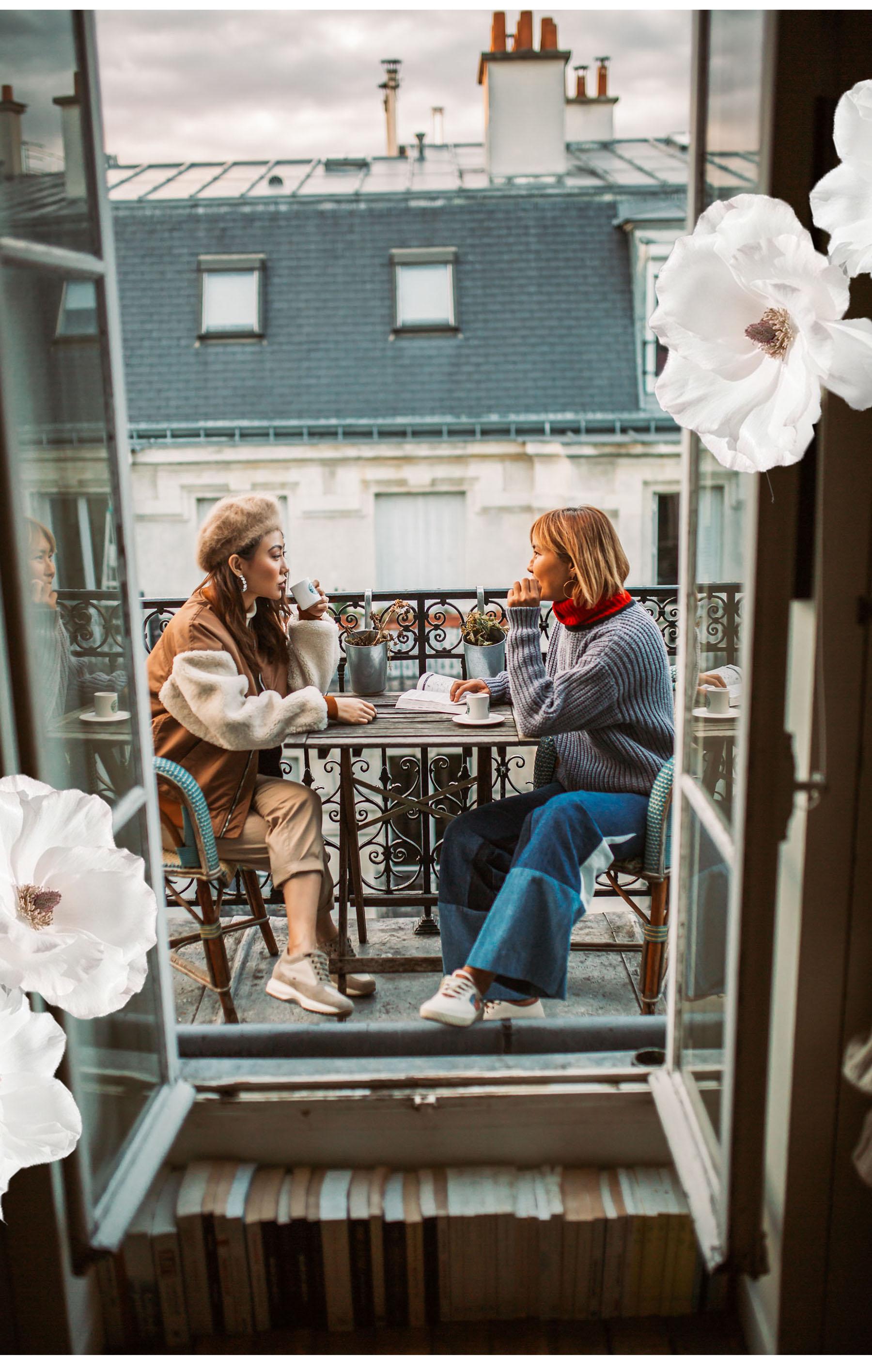 How to Experience Paris like a Local - Balconies in Paris, Paris cafes // Notjessfashion.com