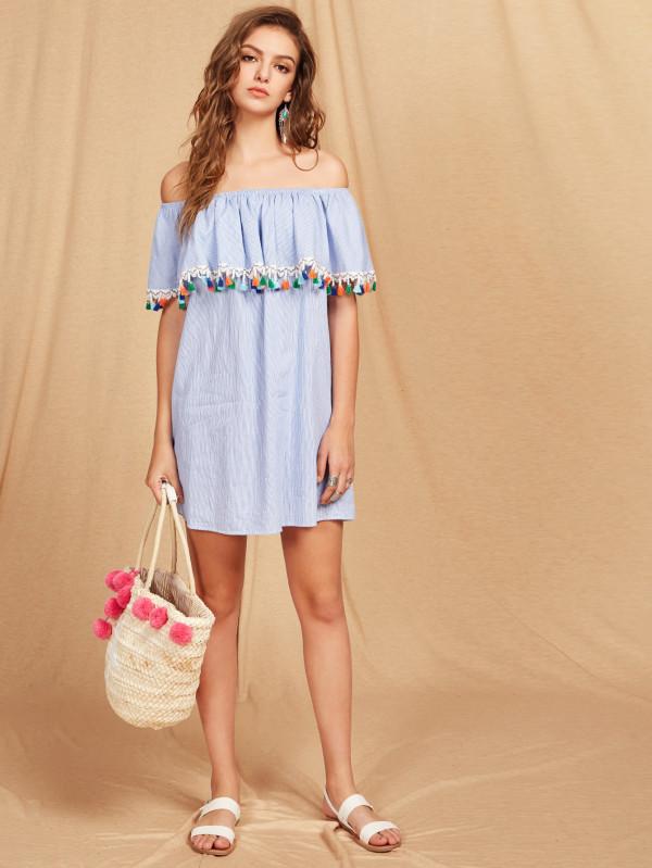 Dresses to Get You Through Easter - stripe Dress, bardot dress // Notjessfashion.com