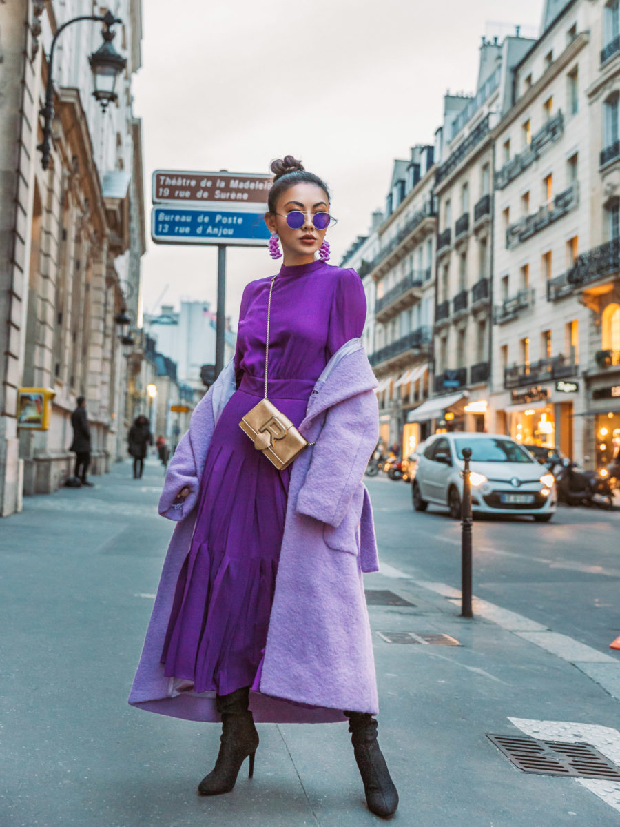 4 Purple Outfits That Prove The Color is Here to Stay - monochromatic purple outfit, pfw street style, fashion week outfits // Notjessfashion.com