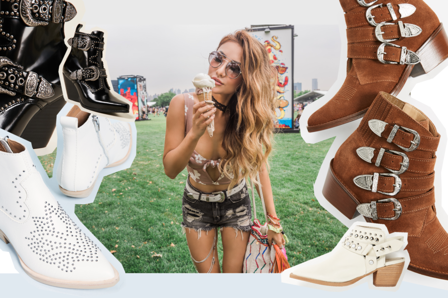 Perfect Shoes for Any Coachella Outfits, Coachella Outfits Ideas, Festival Style, Western Boots Outfits for Coachella, Jessica Wang Festival Outfits // NotJessFashion.com
