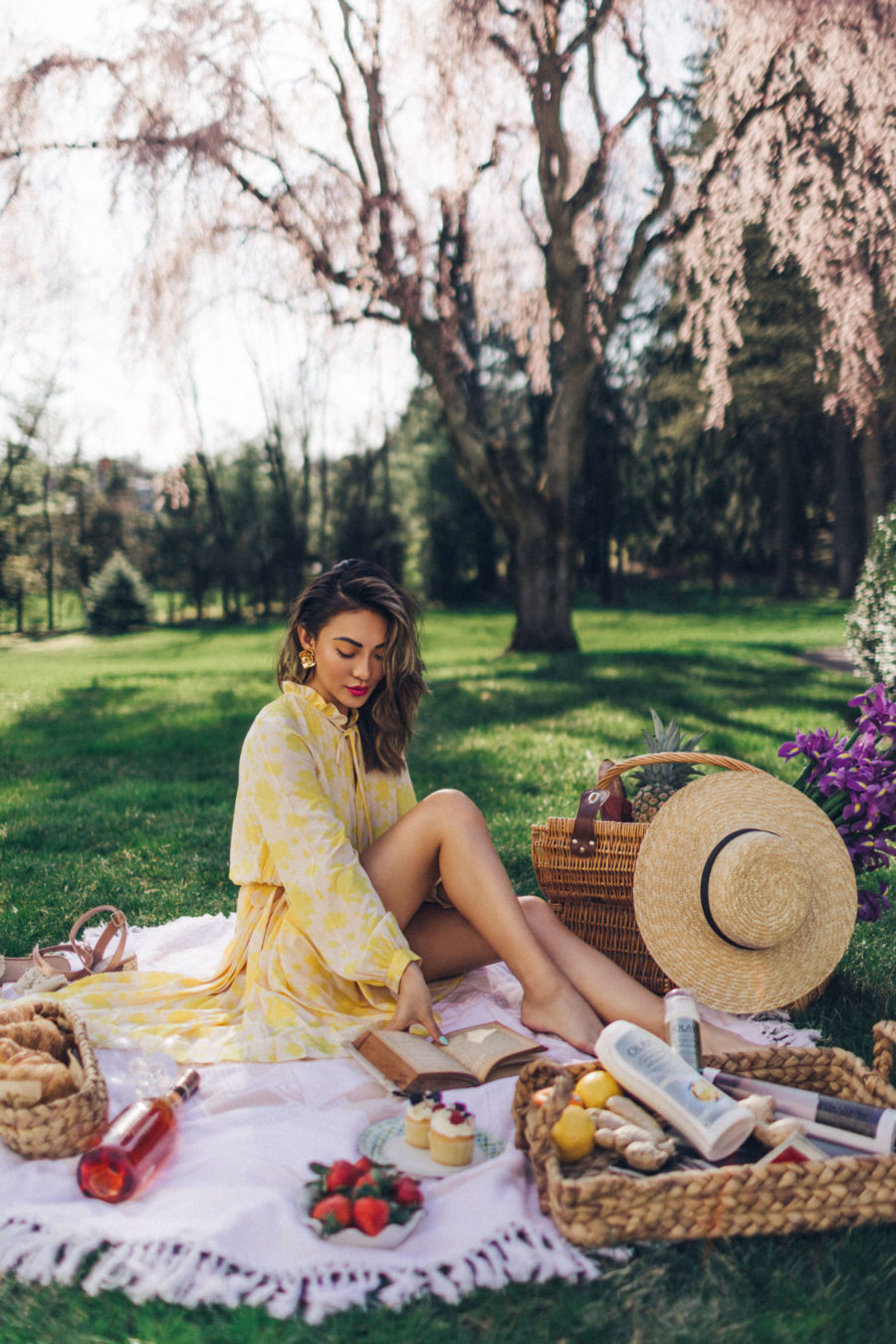 5 Perfect Summer Outfits for Every Activity - yellow sundress, flowy summer dress, straw tote, straw hat // Notjessfashion.com