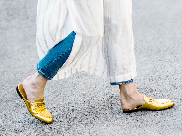 Best Mule Brands for Spring and Summer - Gucci Mule Loafers in Gold // Notjessfashion.com