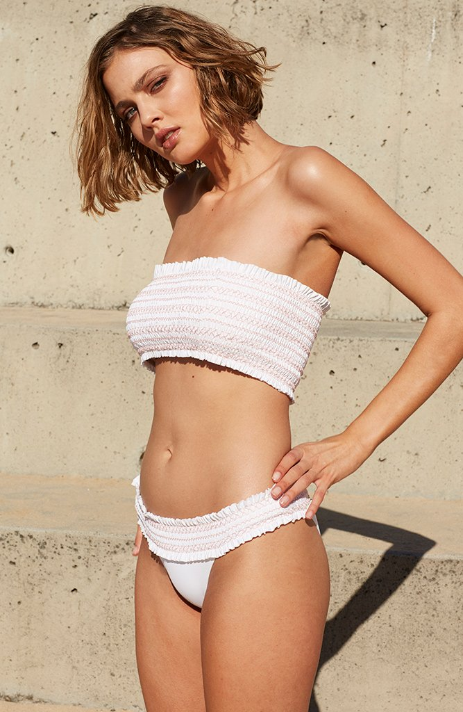 Stylish Swimsuit Trends 2018 - smocked bikini // Notjessfashion.com