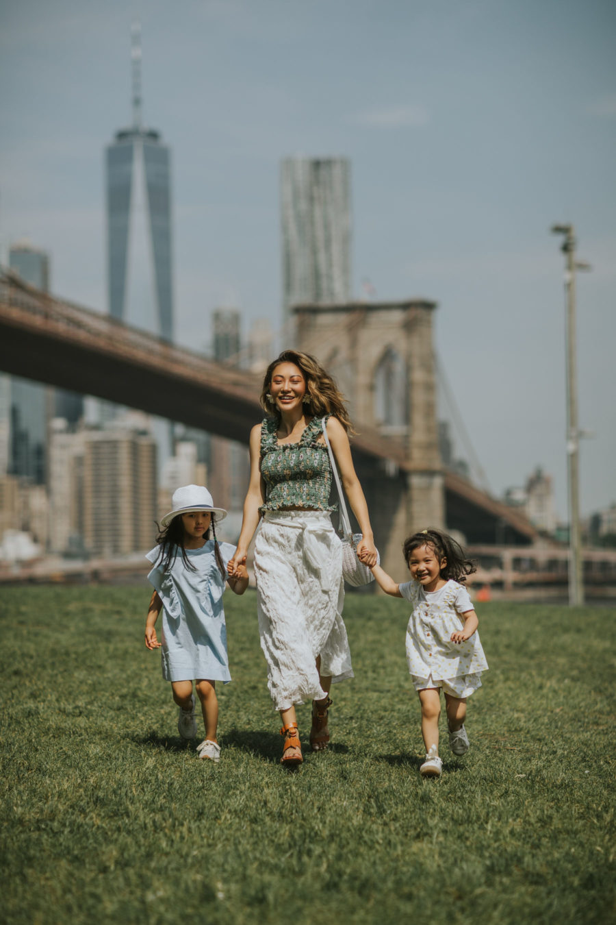 How I Spent My Memorial Day Weekend - smocked top, wrap skirt, summer outfit, casual summer outfit, cute kids fashion, nyc family trip // Notjessfashion.com
