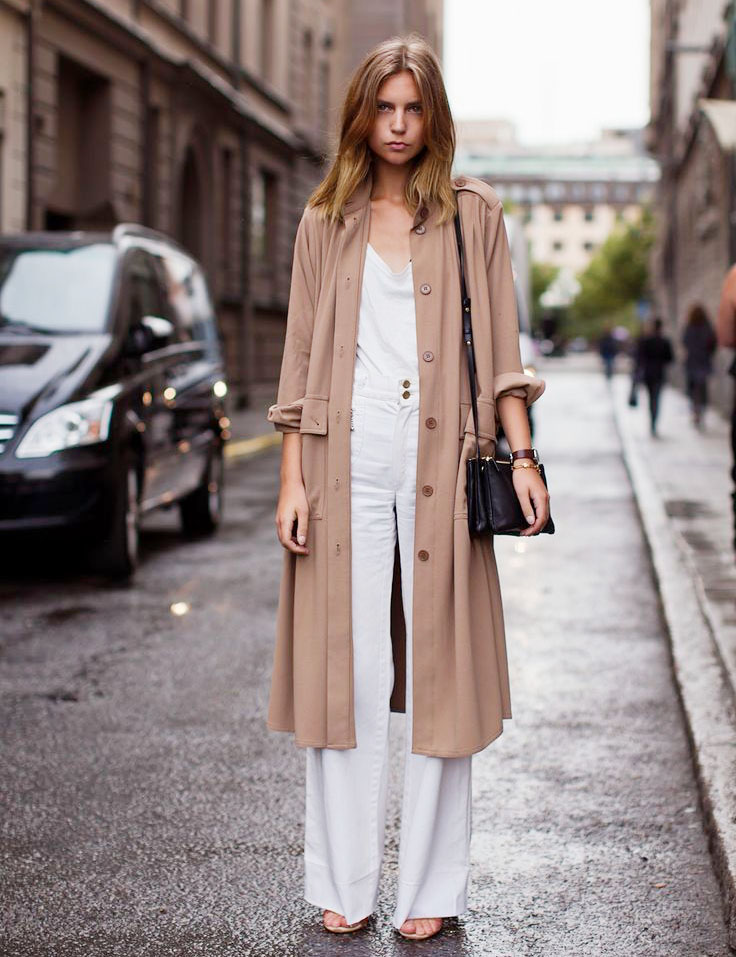Stylish but Office Friendly Summer Outfit Ideas - duster jacket outfits, wide leg pants, summer office style // Notjessfashion.com
