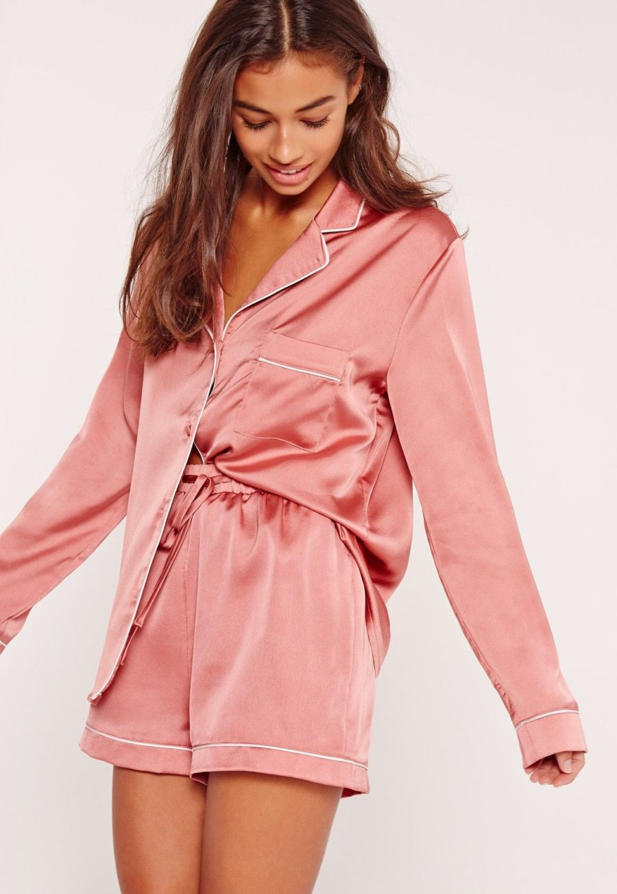 Chic Sleepwear for the Summertime - silk pajama set, pink pajama set, affordable pajamas // Notjessfashion.com