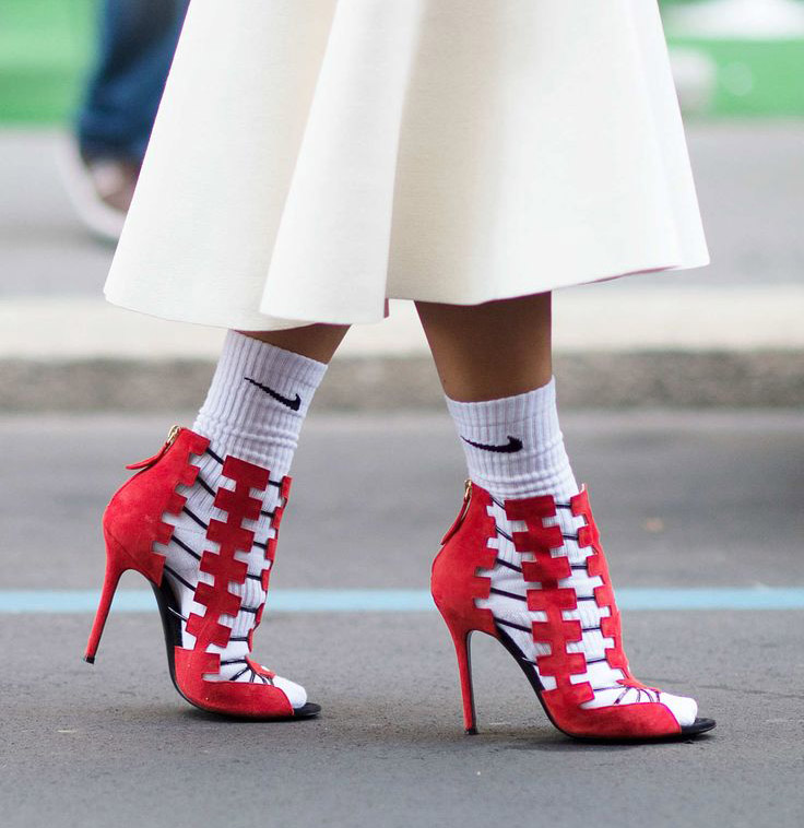 How to Wear the Socks and Sandals Trend for Spring - Sport Socks with Sandals // Notjessfashion.com