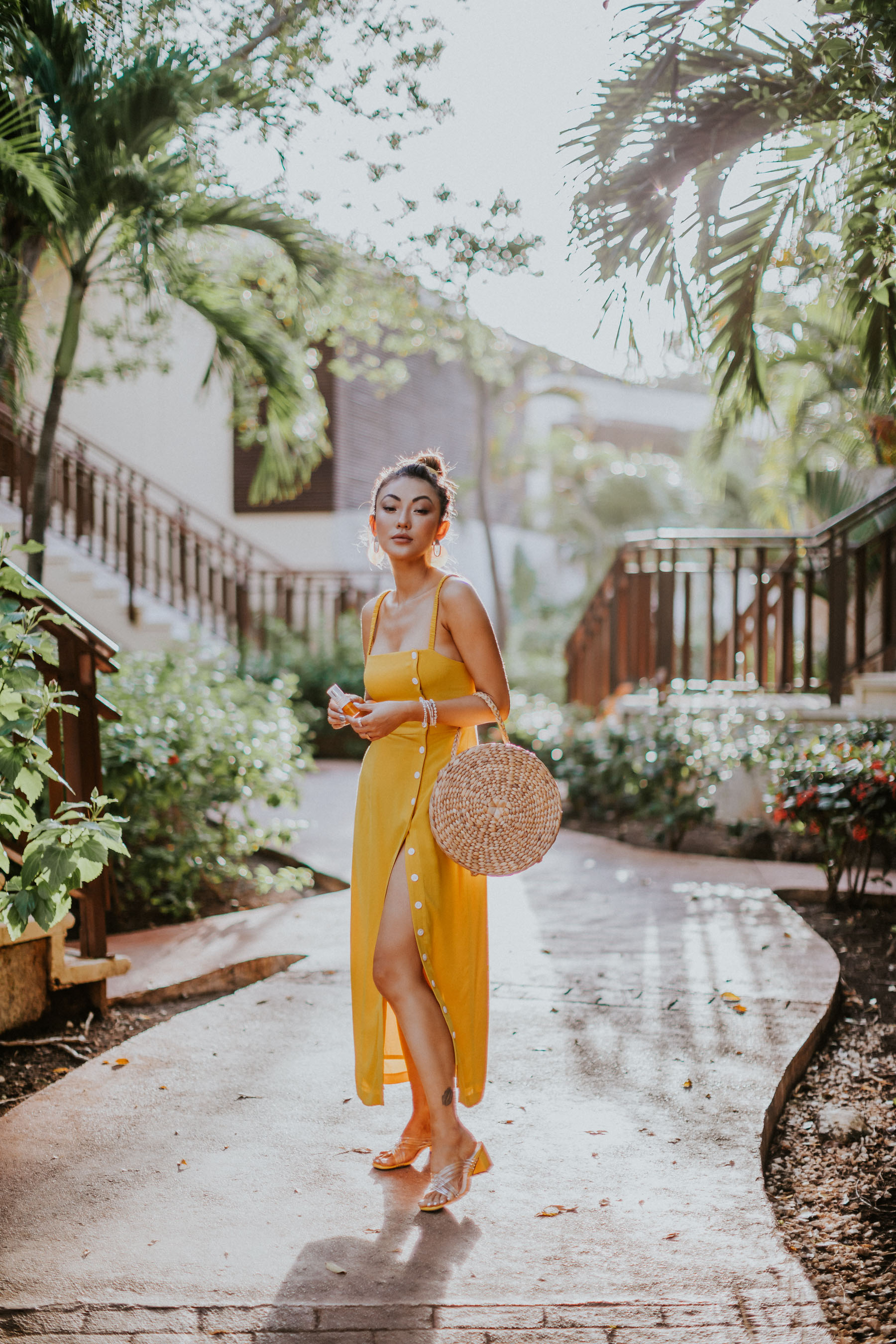 summer trends to retire, Yellow Button Down Dress, Fairmont Mayakoba // Notjessfashion.com