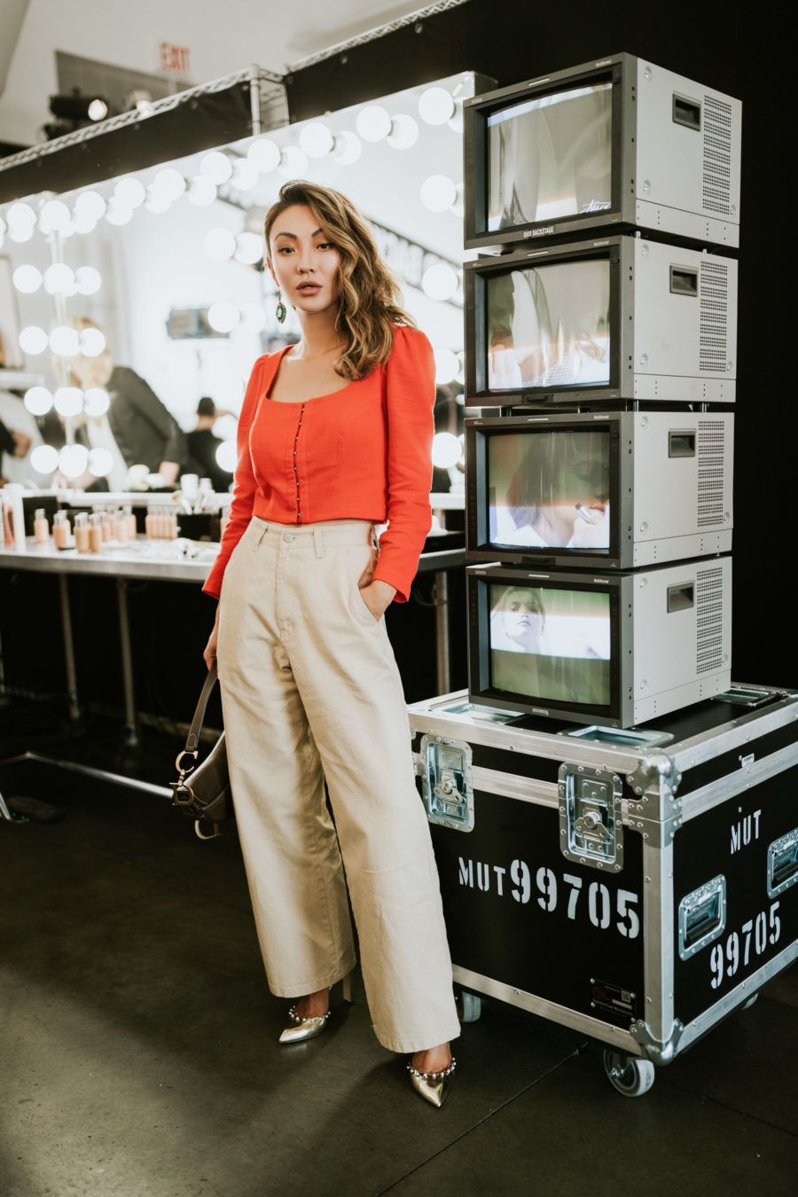 What to Wear to Your Next Blogger Event - Dior Backstage Event, square neck top // Notjessfashion.com