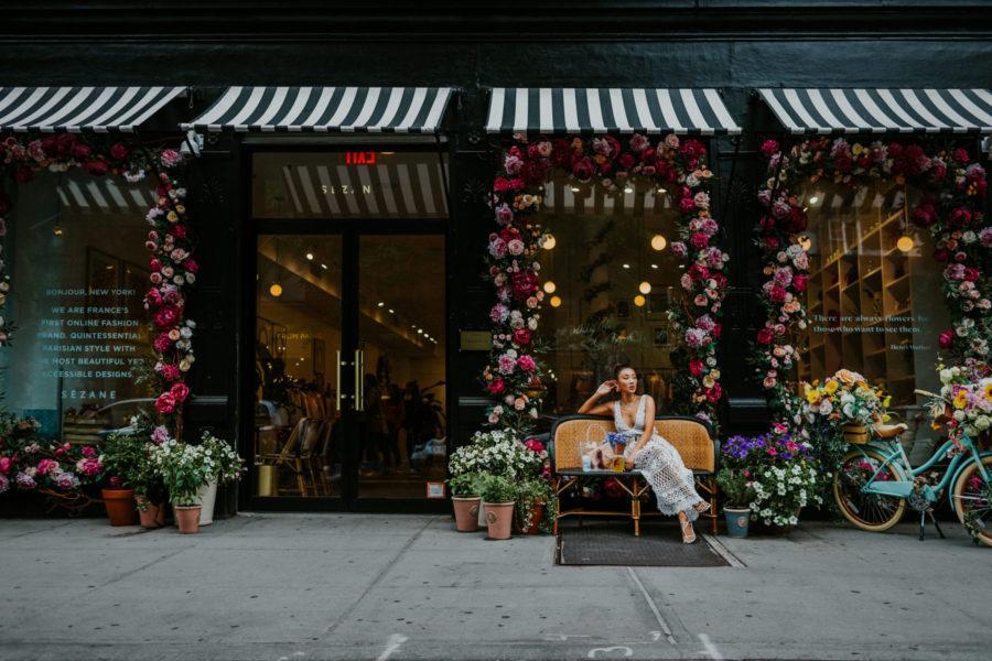 tips for shopping wedding dresses online, white lace dress, spring wedding guest dress // Notjessfashion.com