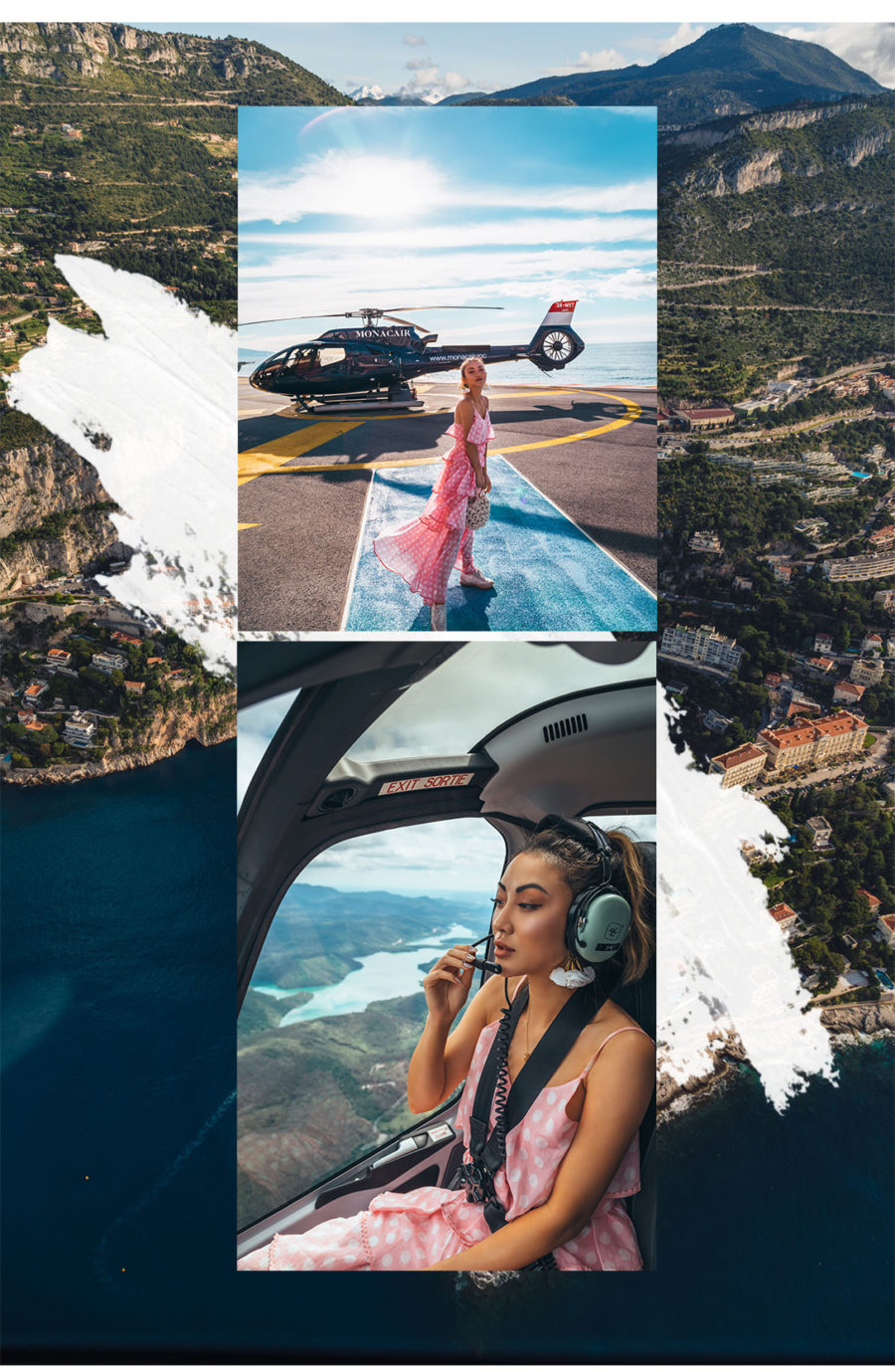 Monte Carlo with Fairmont x Le Labo - tiered dress and sneakers, pink tiered ruffle dress, dress and sneakers outfit, helicopter ride // Notjessfashion.com