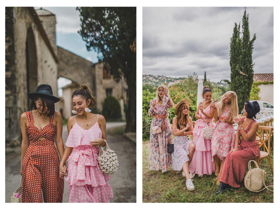 Fairmont x Le Labo Grasse Rose Harvest Experience - tiered dress and sneakers, pink tiered ruffle dress, dress and sneakers outfit, grasse rose field, le labo rose field, le labo blogger experience // Notjessfashion.com