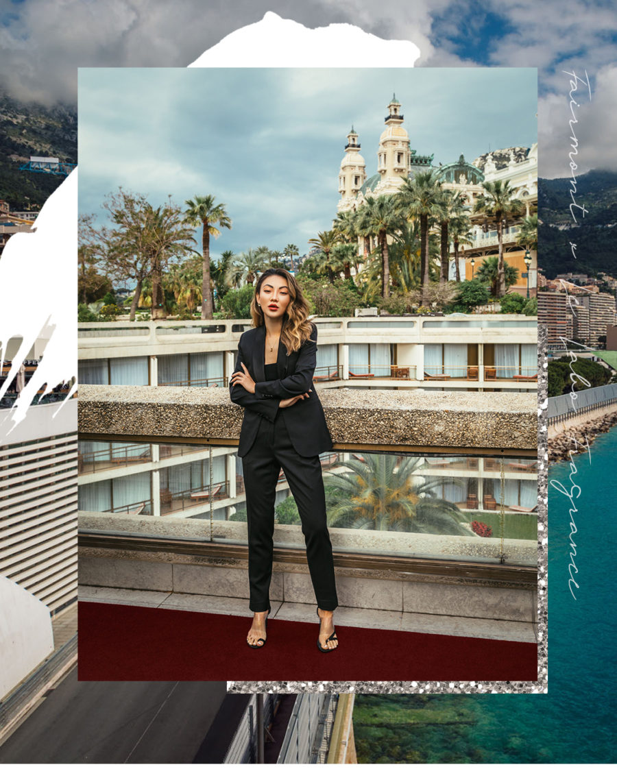Monte Carlo with Fairmont x Le Labo - The Black Tux, women's black tux, fairmont monte carlo, fairmont monte carlo terrace // Notjessfashion.com
