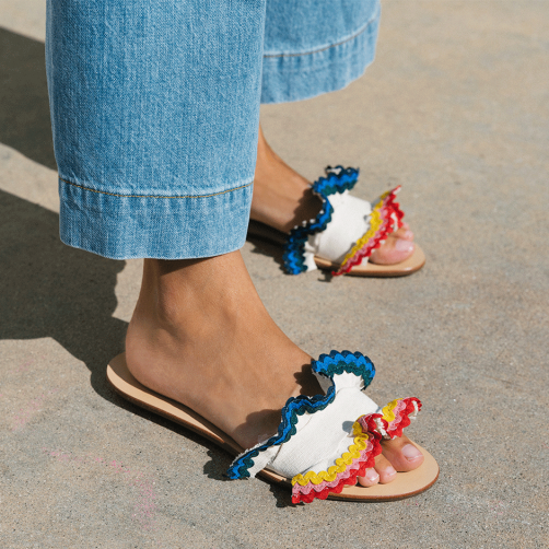 Shoes for Summer 2018 - Bright Slide Sandals // Notjessfashion.com