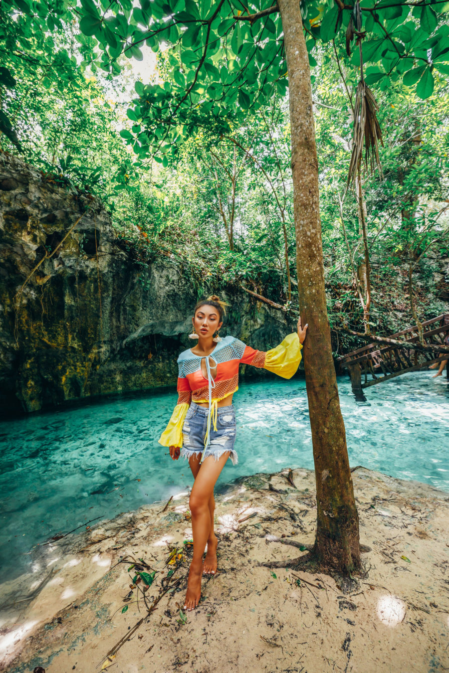 Fairmont Mayakoba x LIKEtoKNOW.it - bright crochet top, cenote mexico, vacation style // Notjessfashion.com