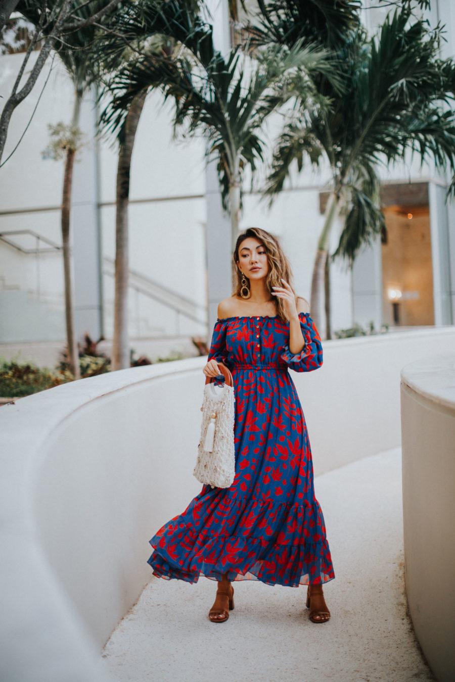 spring 2019 capsule wardrobe - caroline k dress, vacation style // Notjessfashion.com
