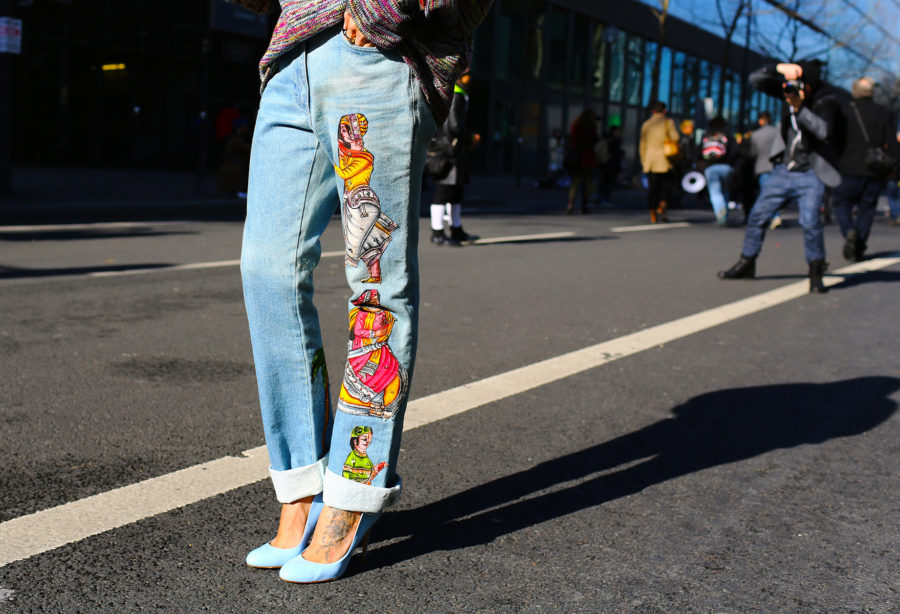 Classic Denim Styles With a Twist - embroidered jeans trend // Notjessfashion.com
